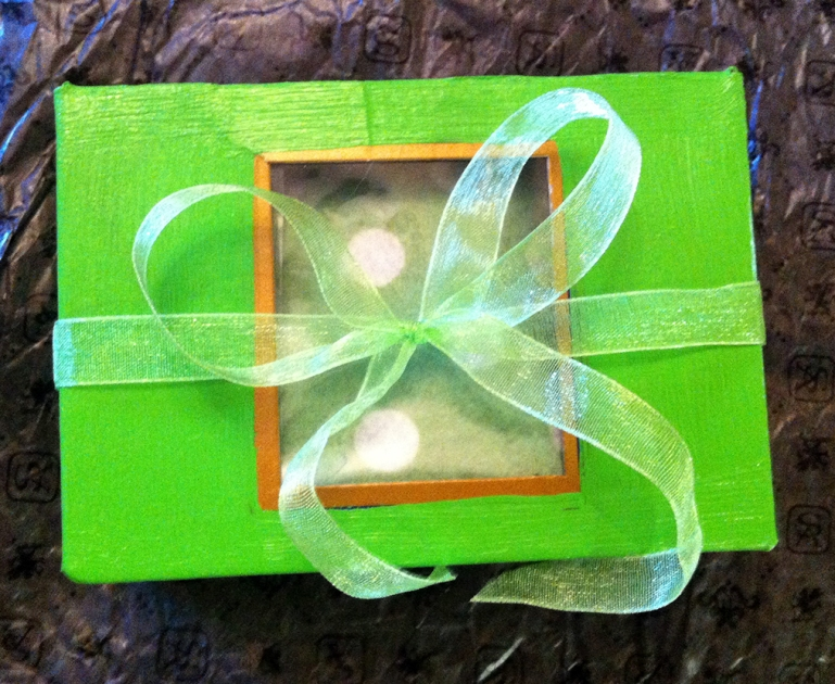 Lime-Green Gift Box